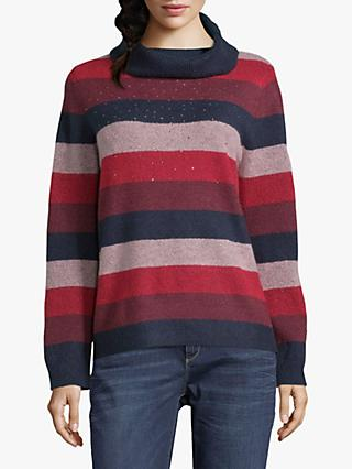 Betty Barclay Embellished Jumper, Dark Blue/Red