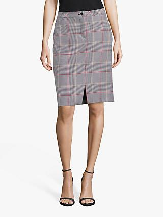 Betty Barclay Check Skirt, Black/Cream
