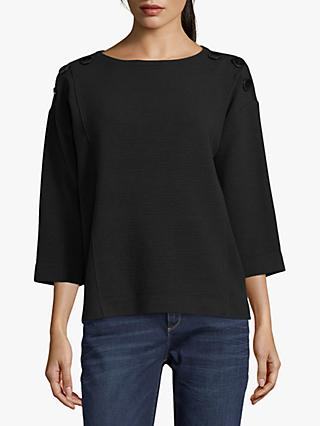 Betty Barclay Button Trimmed Top, Black