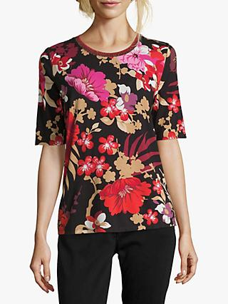 Betty Barclay Floral Print T-Shirt, Black