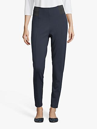 Betty Barclay Elasticated Waist Slim Trousers, Dark Sky