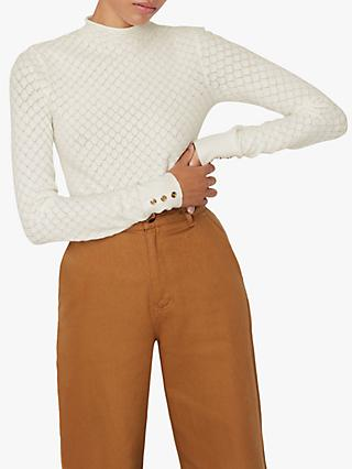 Warehouse Pointelle Jumper