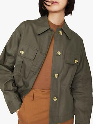 Warehouse Boxy Utility Jacket, Khaki