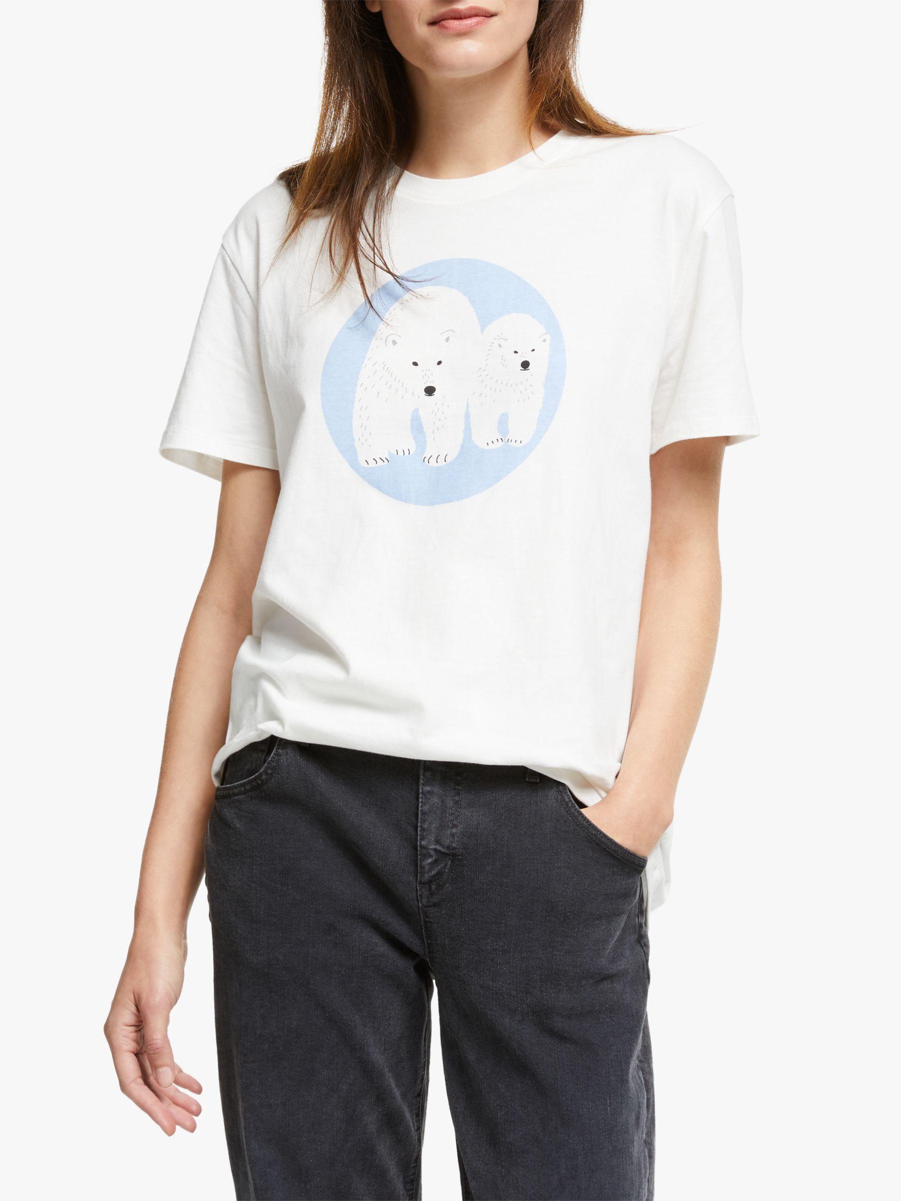 People Tree People Tree X BBC Earth Polar Bear T-Shirt, White