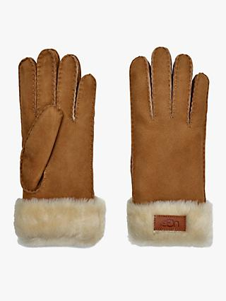 UGG Turn Cuff Leather Gloves