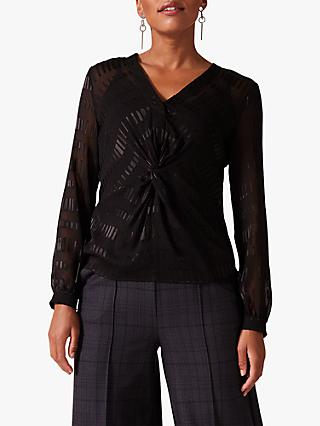 Phase Eight Shirley Twist Blouse, Black