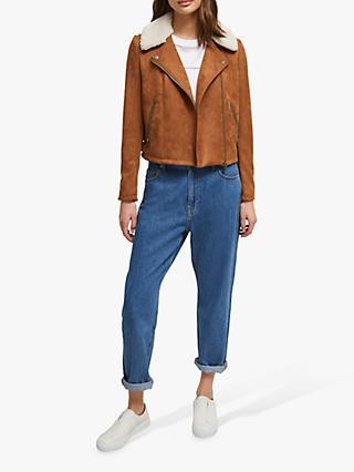 French Connection Amaranta Suede Biker Jacket