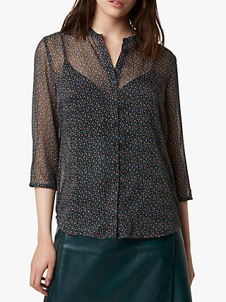French Connection Grazna Collarless Shirt, Multi