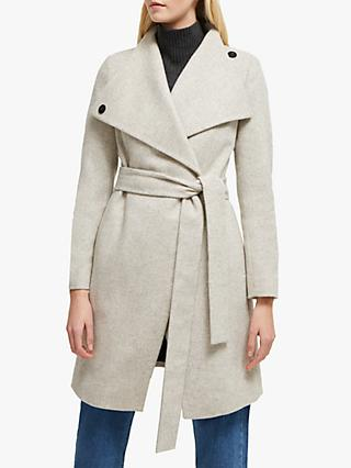 French Connection Bellarosa Belted Coat, Oatmeal