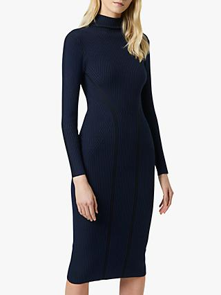 French Connection Simona Stripe Bodycon Midi Dress