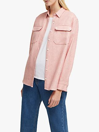 French Connection Mattia Shacket Top, Vanilla Pink