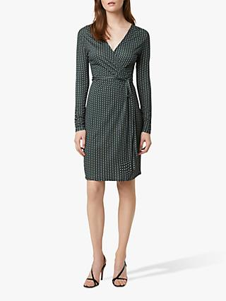 French Connection Cosimo Meadow Jersey Wrap Dress, Green/Multi