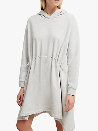 French Connection Santino Hoodie Dress, Dove Grey