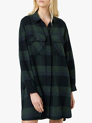 French Connection Lauretta Flannel Dress, Akeley Green