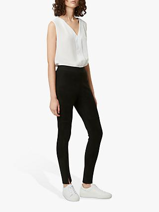 French Connection Sonya Suedette Leggings, Black