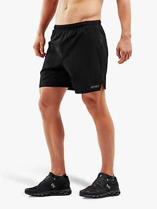 "2XU XVENT 7"" Brief Training Shorts, Black"