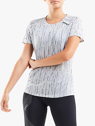 2XU GHST Short Sleeve Training Top, Digital Waterfall/Black