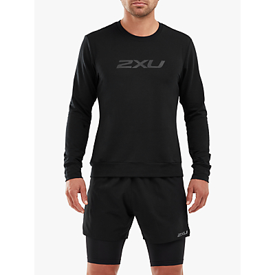 2XU Transit Long Sleeve Training Sweatshirt, Black