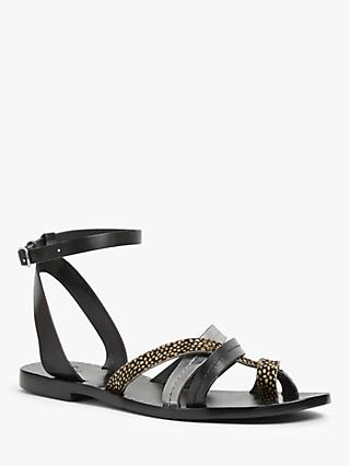 AND/OR Gemma Leather Flat Sandals