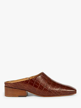 Jigsaw Hart Backless Leather Mules