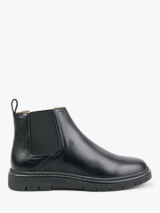 hush Farley Leather Ankle Boots, Black