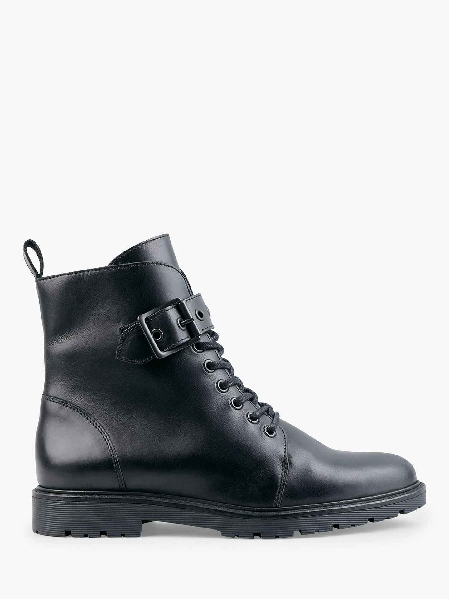Hush Buxton Leather Biker Ankle Boots, Black by Hush