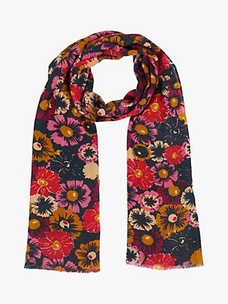 Jigsaw Wildflower Print Wool Scarf, Multi