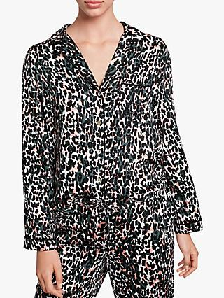 hush Piped Animal Printed Shirt, Camo Leopard