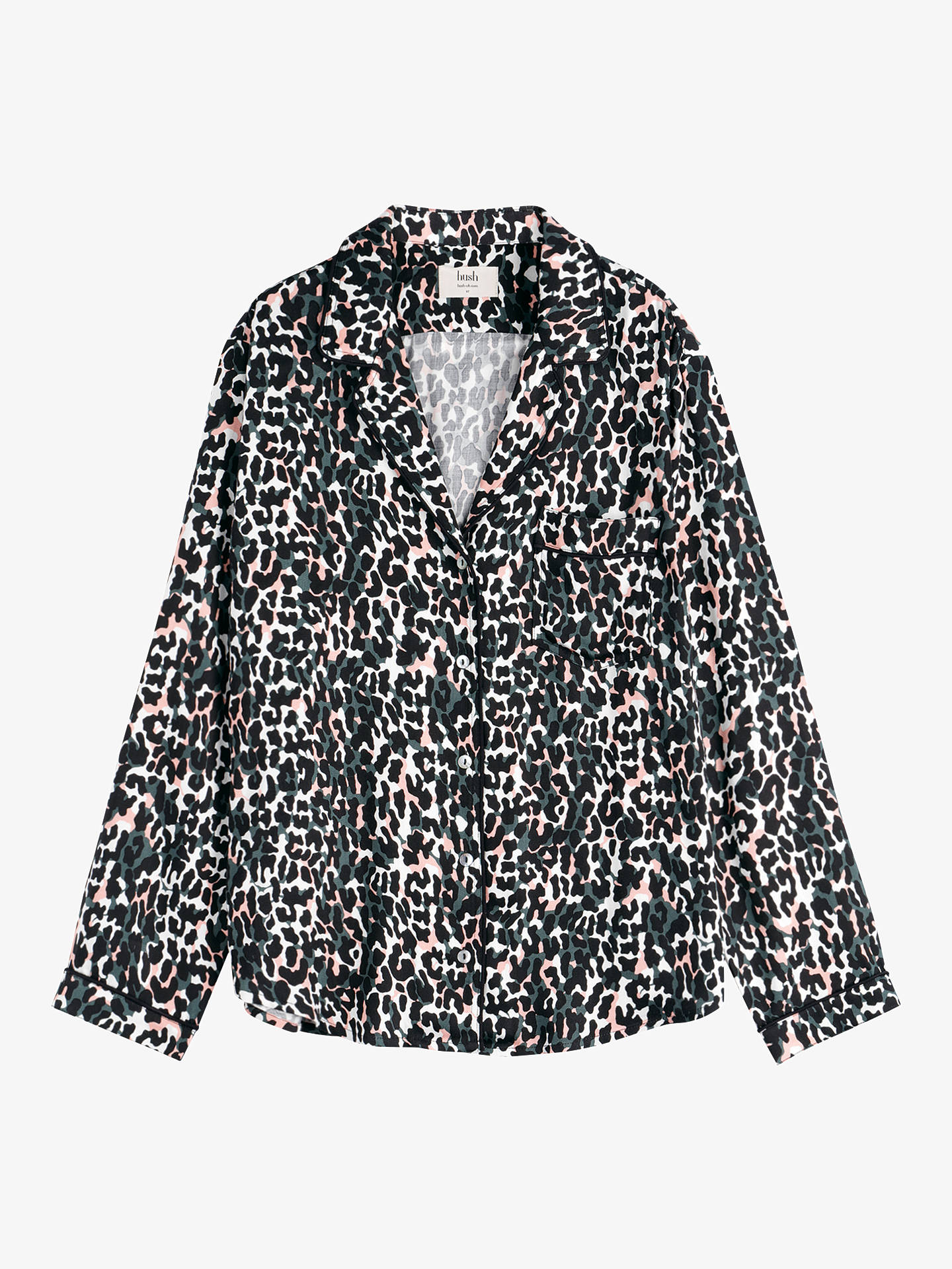 86345c19a8 hush Piped Animal Printed Shirt, Camo Leopard