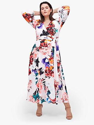 Coast Curve Floral Print Wrap Maxi Dress, Multi