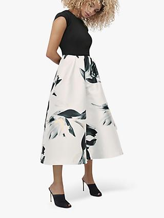 Coast Ivory Floral Print Skirt Dress, Multi