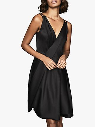 Reiss Nicole Bubble Hem Sleeveless Dress, Black