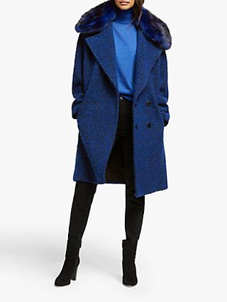 MICHAEL Michael Kors Boucle Cocoon Coat, Twilight Blue