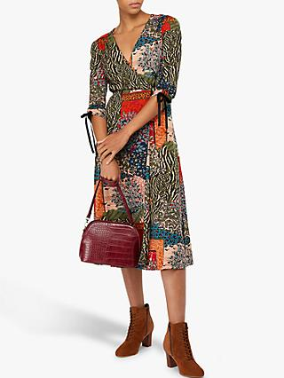Monsoon Payton Printed Midi Dress, Multi