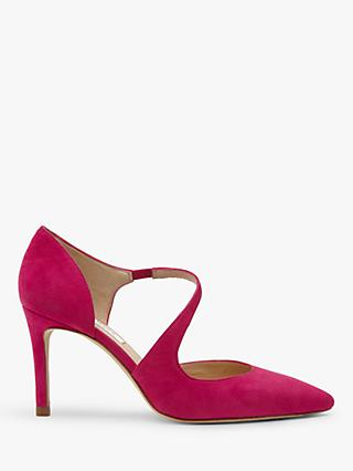 L.K.Bennett Victoria Asymmetric Cut Court Shoes, Pink Magenta