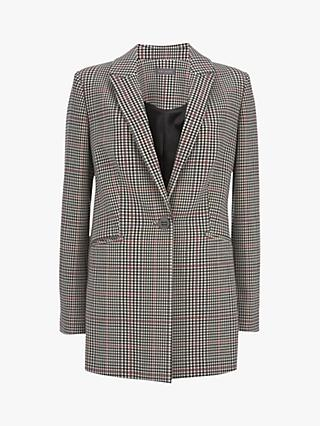 Mint Velvet Check Single Breasted Blazer, Multi