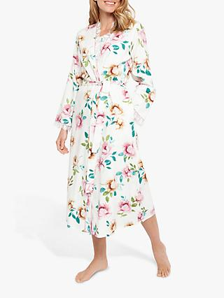 Nora Rose by Cyberjammies Lydia Floral Print Dressing Gown, Pink/Multi