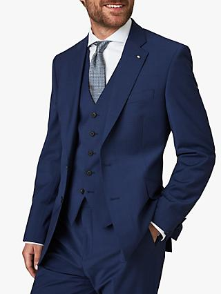 Jaeger Plain Motion Regular Fit Suit Jacket, Blue