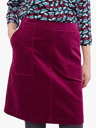 Buy White Stuff Clocktower Cord A-Line Skirt, Rosy Plum, 6 Online at johnlewis.com