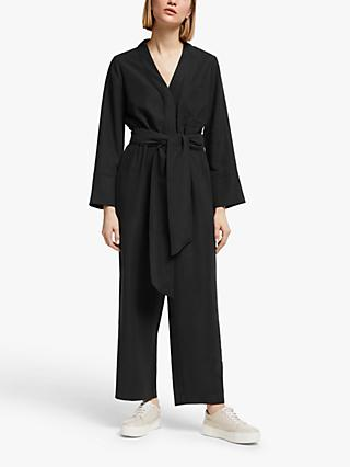 Kin Collarless Jumpsuit, Black
