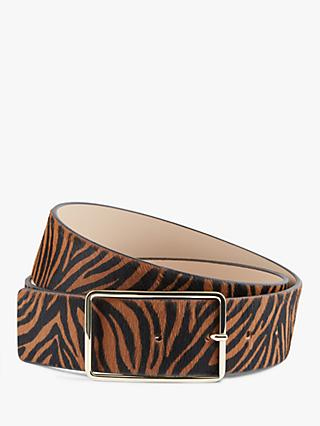 Hobbs Ruby Zebra Stripe Belt, Chocolate Zebra