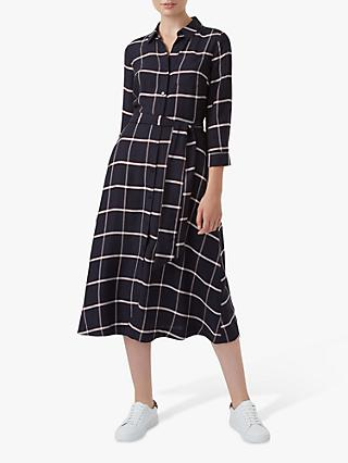 Hobbs Hester Shirt Dress, Navy