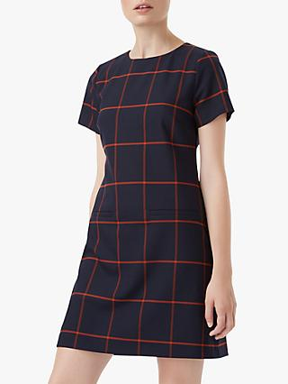 Hobbs Riley Dress, Navy/Paprika