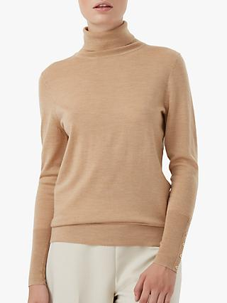 Hobbs Lara Merino Wool Roll Neck Jumper