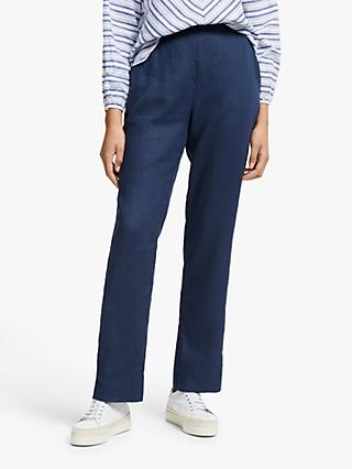 John Lewis & Partners Straight Leg Linen Trousers