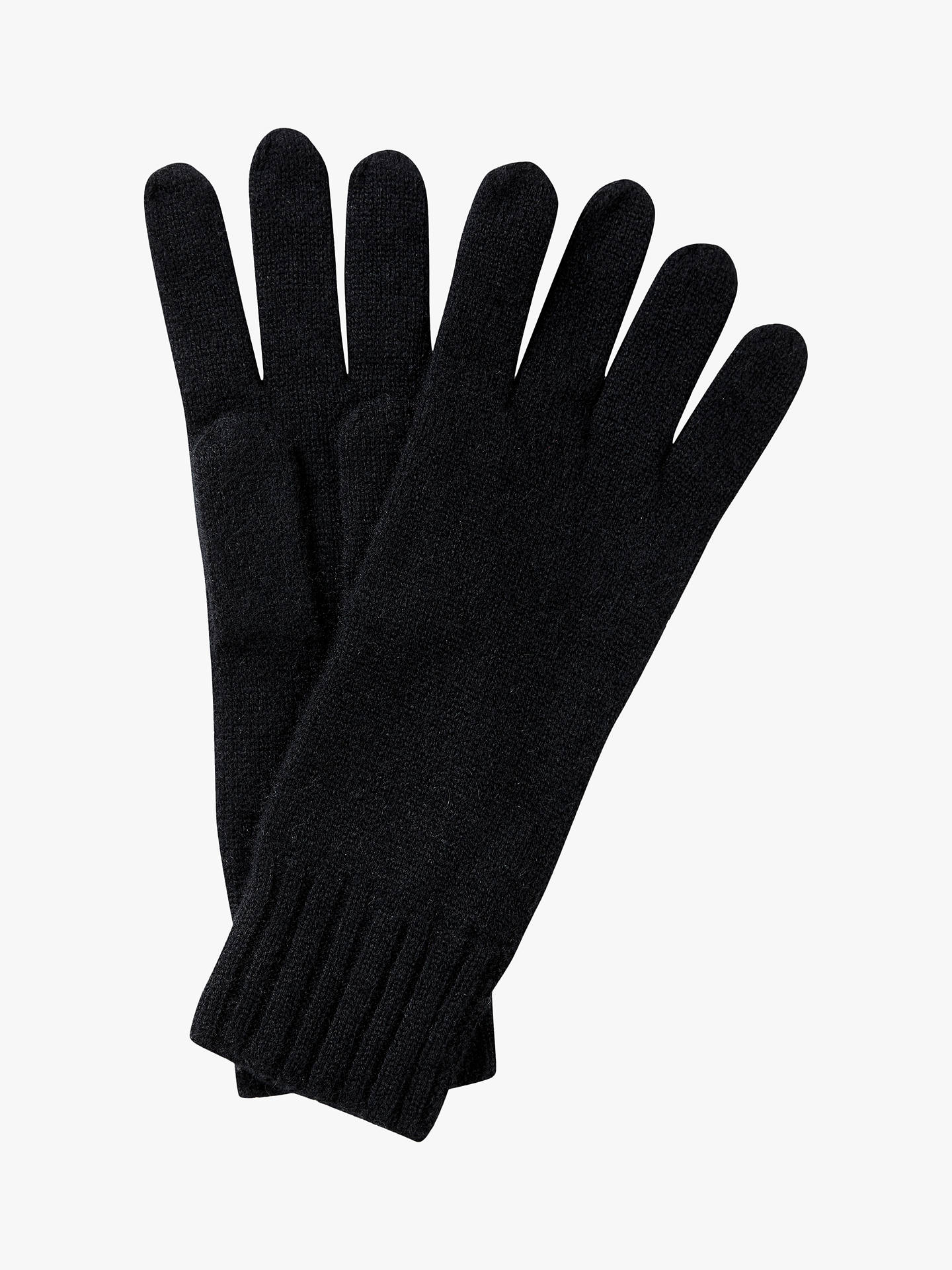 Buy Pure Collection Cashmere Gloves, Black Online at johnlewis.com