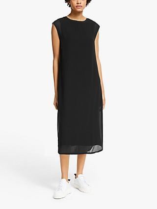 John Lewis & Partners Double Layer Dress, Black