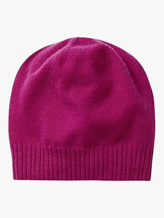 Pure Collection Cashmere Hat, Bright Magenta