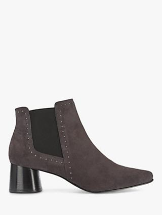 Mint Velvet Maya Slip On Block Heel Suede Ankle Boots, Grey