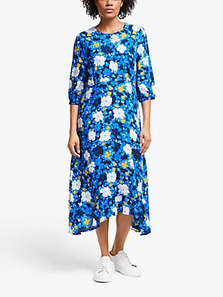Collection WEEKEND by John Lewis Darcie Floral Midi Dress, Blue